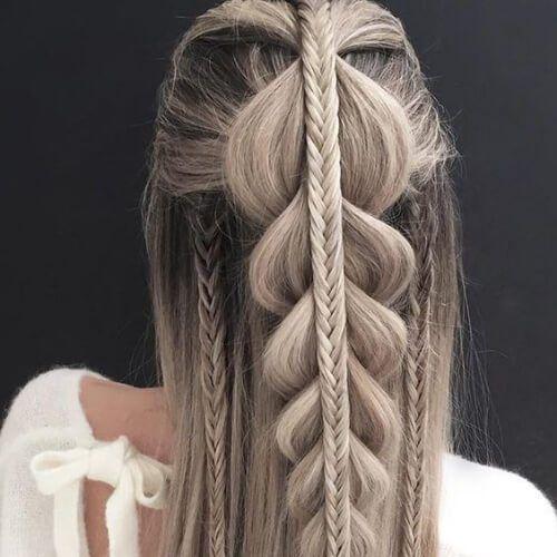 50 Elegantes Peinados Para Cabello Lacio Largo Peinados Peinados Cabello Lacio Peinados Pelo Liso Peinados Con Trenzas Pelo Corto