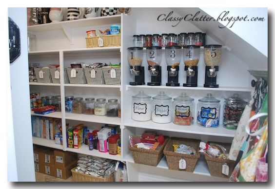 Kitchen Pantry Makeover Jars Pantry Makeover And Clutter