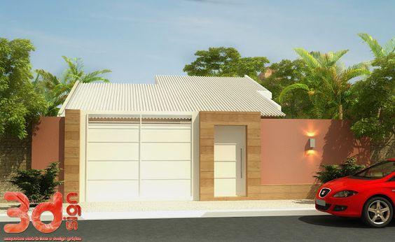 Decor Salteado - Blog de Decoração | Arquitetura | Construção | Paisagismo: Fachadas de Casas Simples, Bonitas e Pequenas!