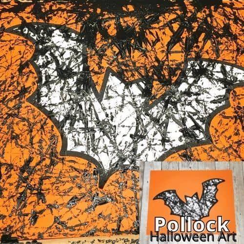 Marbles Halloween 2020 Marble Bat Art For Halloween   Fun Elementary Sensory Project! in
