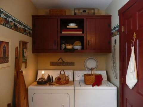 Love the use of the wall cupboard in the laundry room.