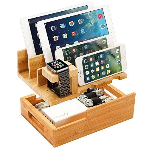 Charging Station For Multiple Devices Wood Dock Organizer Charging Station For Apple Watch Ipho Charging Station Iphone Charging Station Phone Charging Station