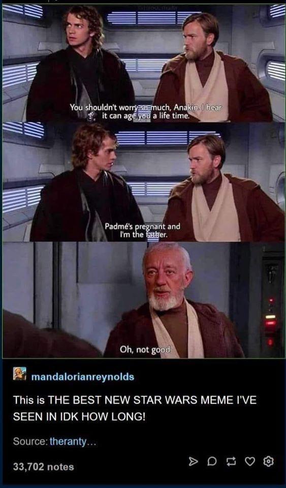 Pin By Stephanie Gottschalk On Star Wars New Star Wars Star Wars Memes Edgy Memes