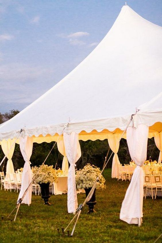 Tent Wedding In Backyard : Backyard weddings, Wedding tent decorations and Tent decorations on