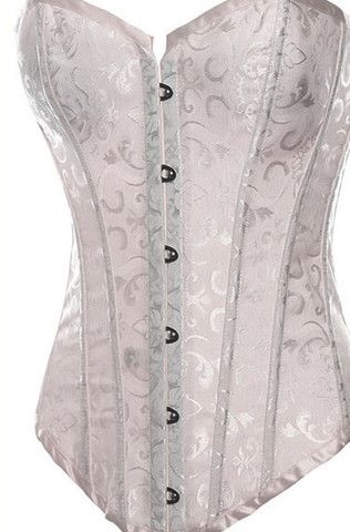 Embroidered Satin Corset