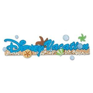 Disney Title Stickers - Vacation