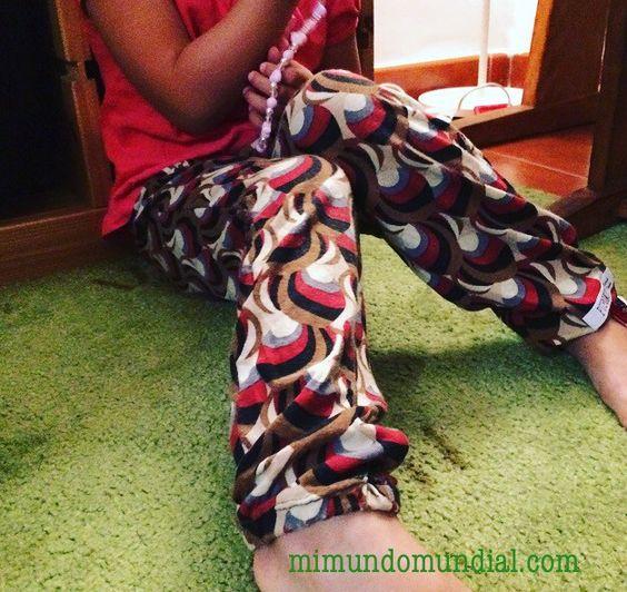 pantalón sin patrón muy sencillo