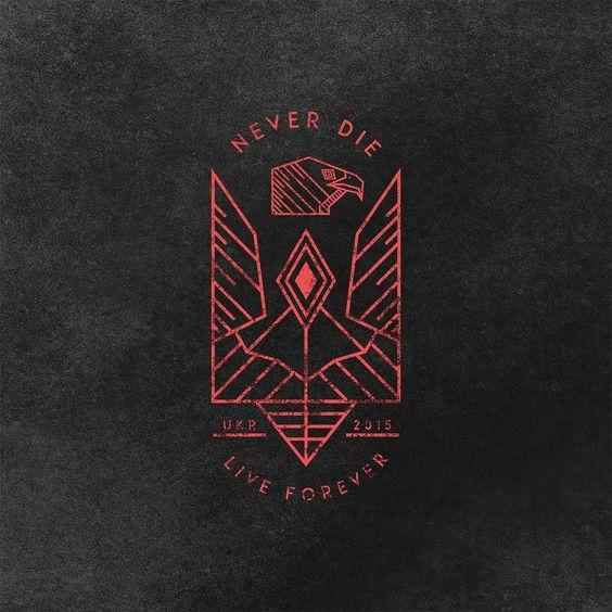 #my #work #design #project #logo #logotype #printing #print #Ukraine #tribute #symbol #eagle #travel #traveling #neverdie #liveforever #2015 #illustrator #illustration #photoshop #eutriv #prod by eutriv94