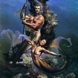 Tritão e sereia