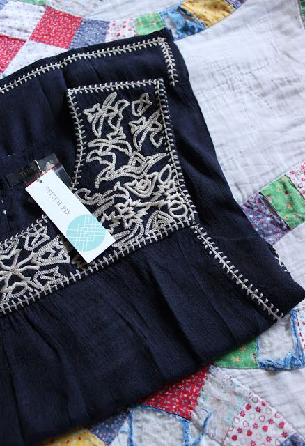 Thml Christy Embroidered Top From Stitch Fix Love This Navy Boho