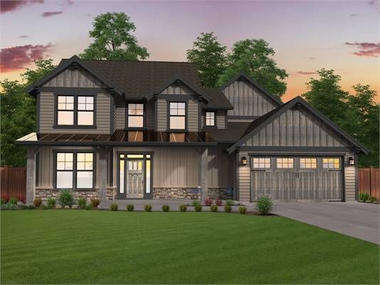 Country Two Story House Plan With Two Master Suites Craftsman House Plans Craftsman House Designs House Roof Design