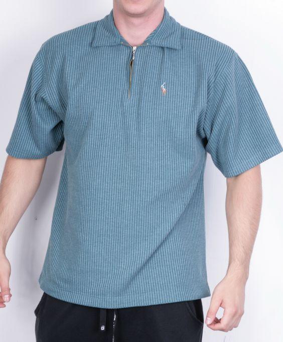 Ralph Lauren Mens XL Polo Shirt Zip Neck Green Short Sleeve Summer