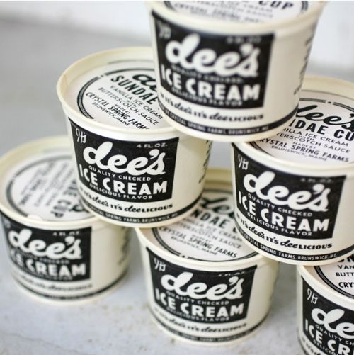 dee's ice cream - awesome container