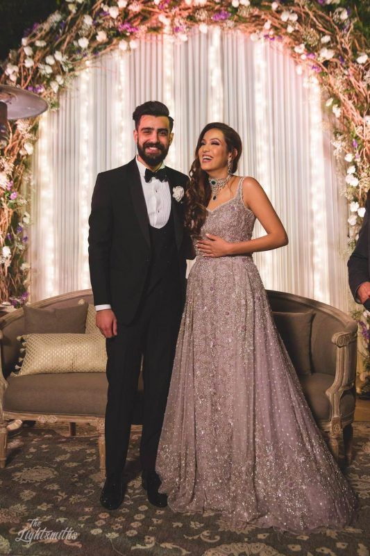 Is Metallic A Bridal Color 15 Brides That Prove Just Why You Should Have Atleast 1 Metallic Outfit In Your Wardrobe Engagement Dress For Bride Indian Wedding Gowns Bride Reception Dresses