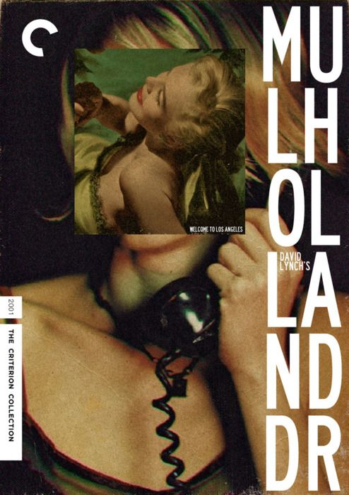 Criterion cover for David Lynch's Mulholland Drive #design