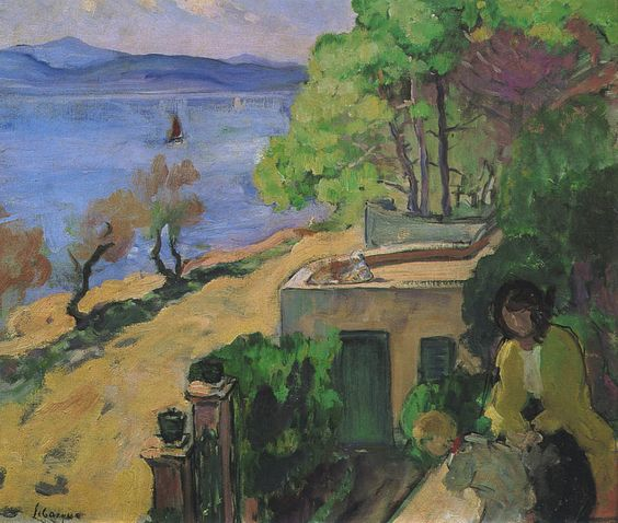 View of the Sea from the Balcony, 1919. Henri Lebasque (1865-1937)