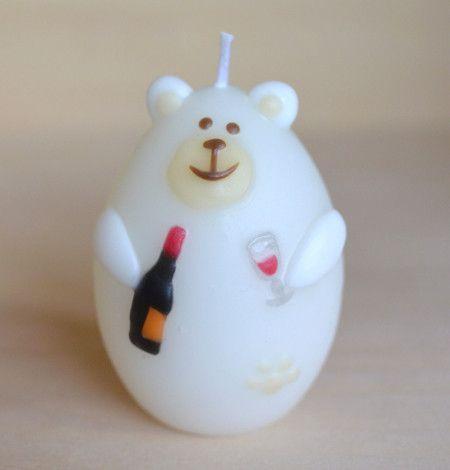 対象キャンドル写真1枚目Arbre candle人気シロクマシリーズ。ワインの季節!ワインを嗜むシロクマ君。プチギフトに最適!サイズ タマゴ型φ47m...|ハンドメイド、手作り、手仕事品の通販・販売・購入ならCreema。