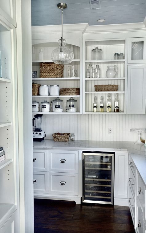 The Kitchen Pantry Features Custom Cabinets Painted In Benjamin