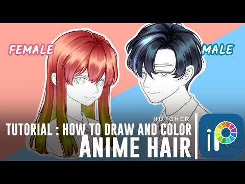 Ibispaintx How To Draw And Color Anime Hair Tutorial Youtube In 2020 Anime Hair Anime Boy Hair Hair Color Tutorial