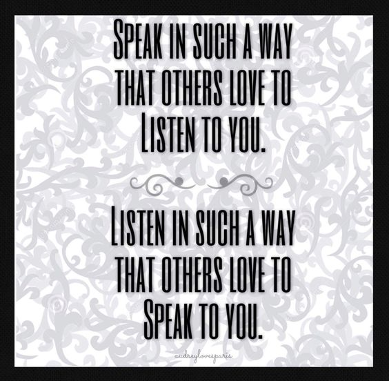 Speak & Listen.......
