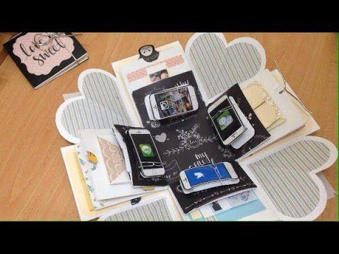 DIY Exploding Box   Anniversary Surprise! - YouTube