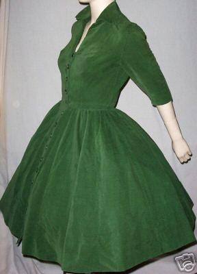 Vintage Green Corduroy