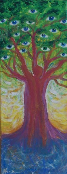 Acrylmalerei - I see... Ich sehe... - ein Designerstück von Agatta bei DaWanda