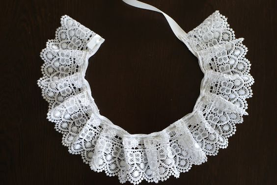 Category - Beautiful: Detachable White Lace Collar... DIY