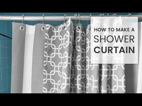 How To Make A Shower Curtain Youtube Diy Shower Curtain
