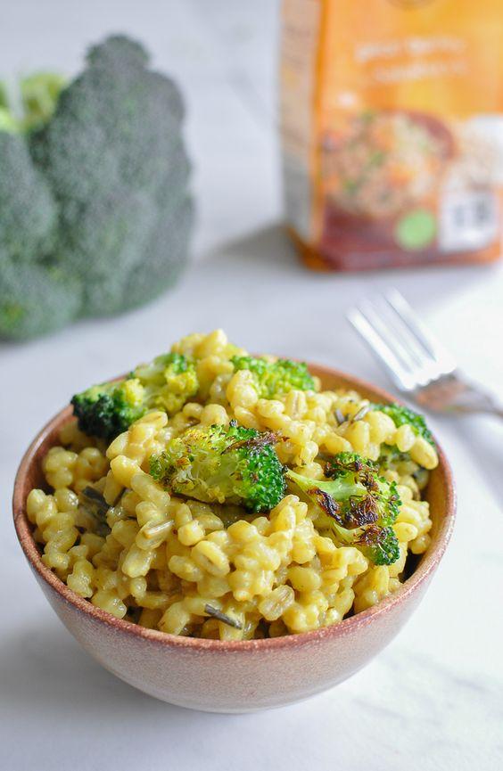 Broccoli and Lemongrass Barley Risotto by @Dani I FoodrecipesHQ