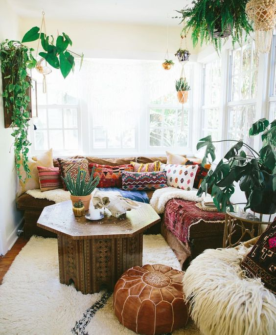 Finding peace in my little neverland.#bohostyle #bohemiandecor - a little too much stuff, but the ideas are good: