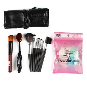 SHARE & Get it FREE | Professional 7 Pcs Nylon Makeup Brushes Set with Brush Bag + 2 Pcs Foundation Brush + Powder PuffsFor Fashion Lovers only:80,000+ Items·FREE SHIPPING Join Dresslily: Get YOUR $50 NOW!