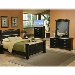 La Jolla Morena 4 Piece King Bedroom Set In Matte Black Nebraska Furniture Mart For The New