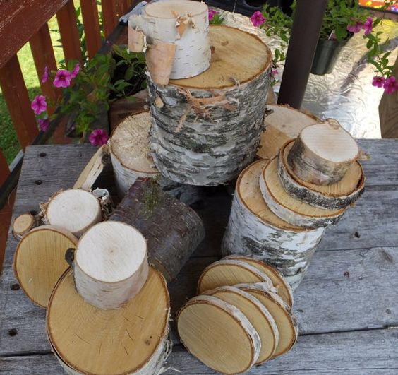 White birch wood mixed sizes wood cookies wood pieces for White birch log crafts