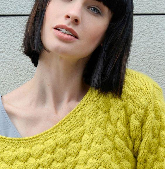 Mod le pull point gaufr femme mod les femme phildar tricot couture pinterest - Point fantaisie tricot phildar ...