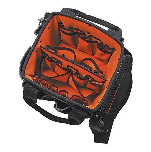 10-Inch Klein Pro Garden Electrician Organizer Tool Bag Tote 40 Pockets #KleinTools