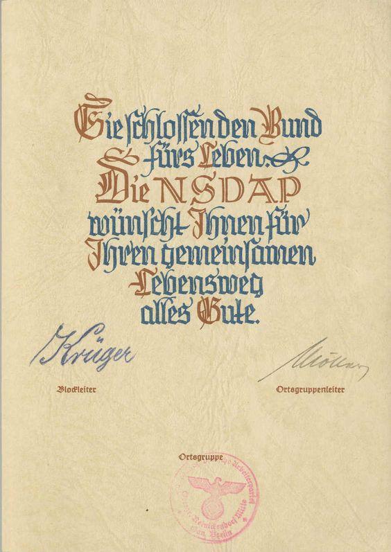 NSDAP besonderes Gedenkblatt ich danke für die Geburt eines Kindes b