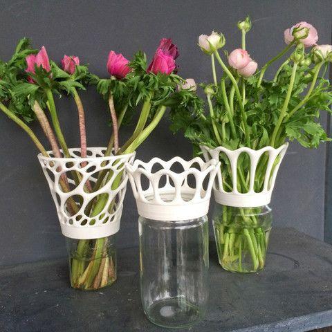 Vase à visser sur des bocaux de confiture 3D #3D #3Dprint #3Dprinting [more pics on Cults website]