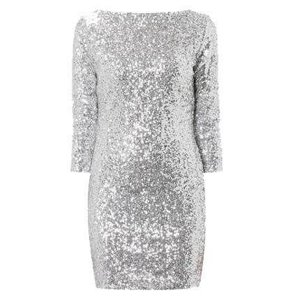 #Kleid mit Allover-Paillettenbesatz - Glänzendes silbernes Kleid von Glamourous. Das figurbetonte #Partykleid versteht es vorzüglich die weibliche Silhouette in Szene zu setzen. - ab 59,95€
