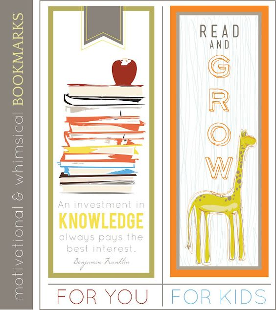 Quoteable Bookmarks - free from sissyprint here, sissyprint.blogspot.ca/2011/08/quoteable-monday-bookmarks.html#