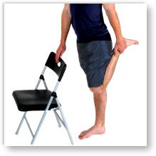 Stretches are a vital part of Osgood-Sclatter disease treatment.  Approved use by www.hep2go.com