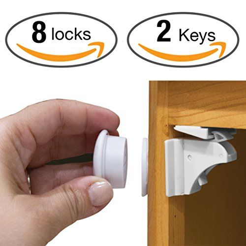 Ugos Magnetic Cabinet Locks Childproof Locks For Cupboards Doors And Drawers Child And Baby Safety Easy Installatio Cabinet Locks Baby Proofing Baby Safety