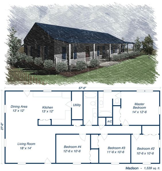 Metal building house plans metal building homes floor for House plan kits