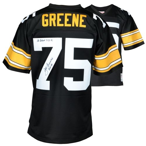 ee63ceaf858 ... White Jersey Joe Greene Pittsburgh Steelers Autographed Mitchell and  Ness Jersey with HOF 87