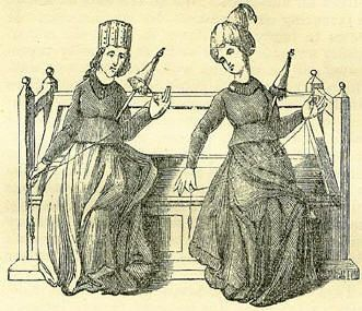 "January 7: St. Distaff's Day. A medieval European celebration of transitioning back to normal work routines, primarily focusing on spinning. ""Partly work and partly play/ You must on St. Distaff's Day."" (Links to a thorough history of this holiday, which has been revived by modern crafters.)"