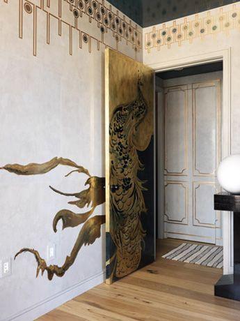 Peacock door, frieze, mural extension.... want it all.