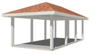 Pinterest the world s catalog of ideas for Hip roof carport plans