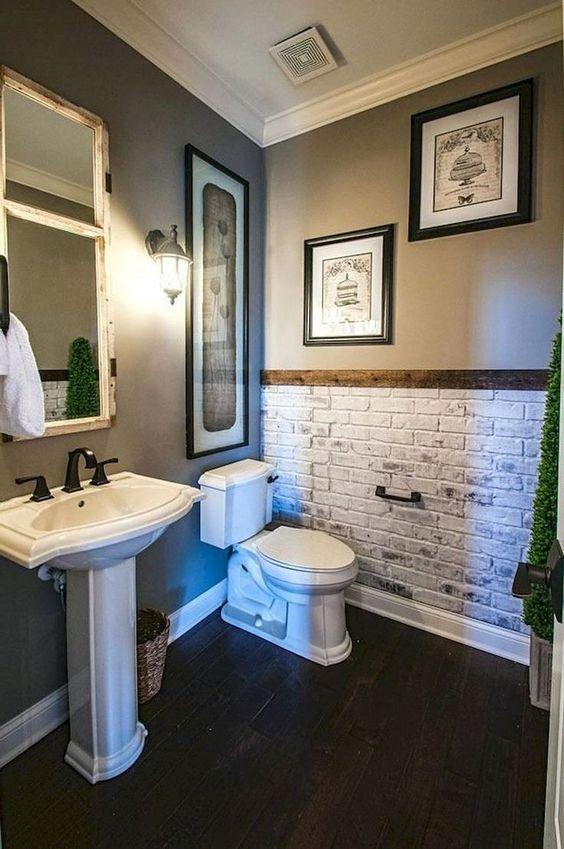 Unique beautiful elegant small bathroom decorating ideas 7