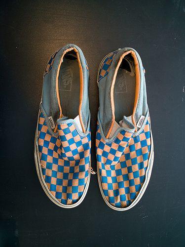 Vans checkered slipons