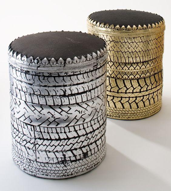 poufs pneu khmissa oriental pinterest poufs. Black Bedroom Furniture Sets. Home Design Ideas